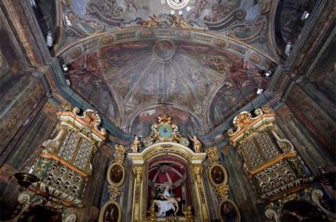 Empiezan la restauración de las pinturas barrocas de la capella dels Dolors