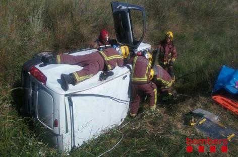 Cinco heridos en Argentona en un choque frontal entre dos vehículos
