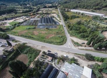 Empiezan a construir en Argentona la rotonda de la carretera de Òrrius
