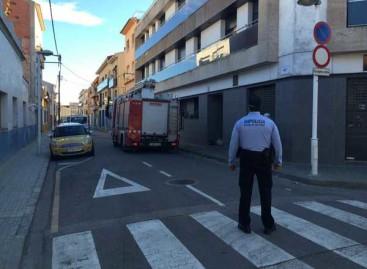 Cuatro personas atendidas por inhalación de humos en un pequeño incendio en Malgrat