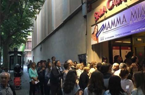 La sala Cabanyes de Mataró dice adiós al musical Mamma Mia en pleno éxito