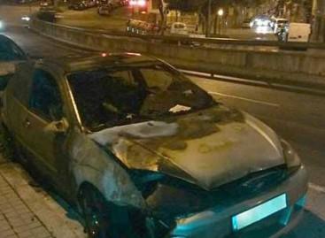 Cuatro detenidos en Mataró por quemar y romper los cristales de varios coches