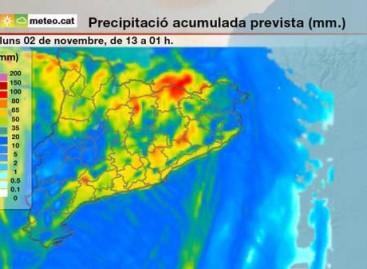 Protecció Civil alerta de la llegada de un episodio de fuertes lluvias, vientos y mala mar en el Maresme