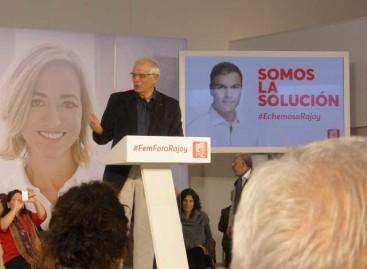 """Borrell (PSC) pide en Mataró que el electorado haga que Francesc Homs se de un """"trompazo"""" para acabar con el """"problema independentista"""""""