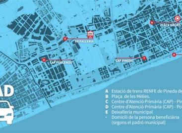 Pineda pone en marcha un servicio de taxi semigratuito para los vecinos de dos barrios