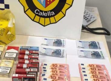 Detenidos en Calella dos hombres que endosaban billetes falsos de 20 euros
