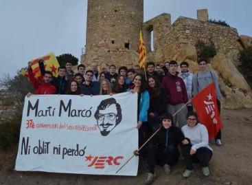 Las juventudes de ERC rinden homenaje a un terrorista muerto por la policía