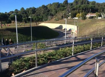 Inauguran en Malgrat la pasarela bajo la carretera N-II de Can Palomeres
