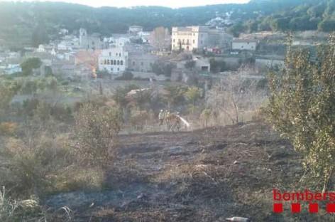 Una imprudencia provoca un fuego en Teià que afecta a dos hectáreas