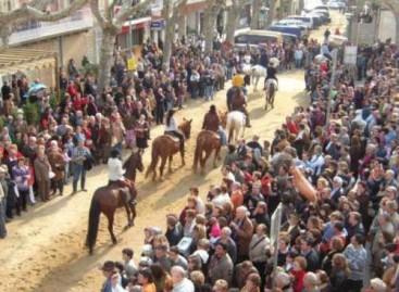 Tres heridos al desbocarse un caballo en els Tres Tombs de Arenys de Munt