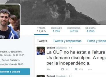 El alcalde de la CUP de Argentona se disculpa por que su formación no da apoyo a Artur Mas