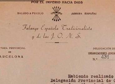 Alella denuncia a la policía la desaparición de un archivo restringido del Movimiento en la localidad