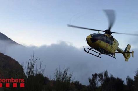 Un ciclista de 52 años rescatado por los bomberos tras accidentarse en Dosrius
