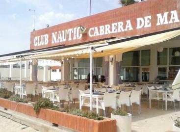 El temporal se lleva parte de la terraza del Club Náutico de Cabrera de Mar