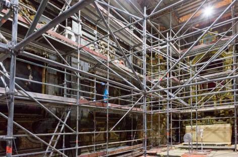 La restauración de los murales de la capilla dels Dolors de Mataró finalizará en marzo
