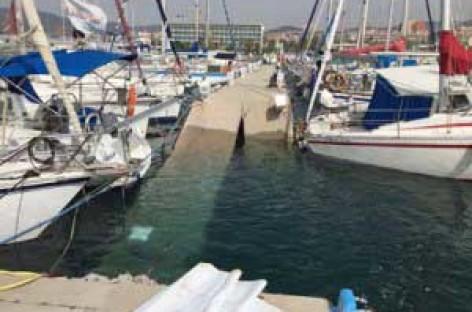 Tres personas lesionadas por el derrumbe del pantalán denuncian al Port de Mataró