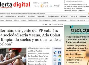 """Albiol reprende al concejal de Palafolls que dice que Colau debería """"estar fregando suelos"""" y no de alcaldesa de Barcelona"""