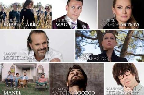Orozco, Bosé, Arteta o Pastori actuarán en el festival de Pineda de Mar