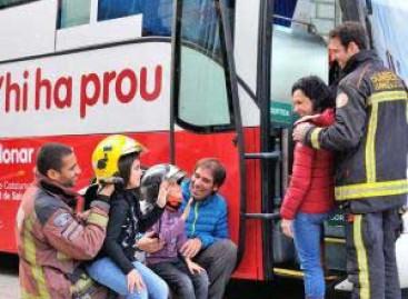 Els bombers voluntaris de Malgrat col.laboren en la campanya de donació de sang d'aquest dissabte