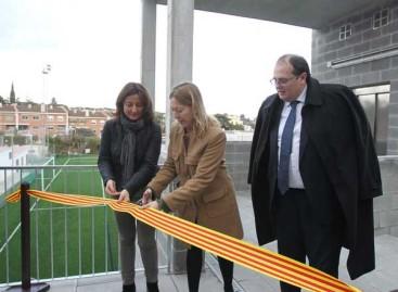 Inauguran las gradas del campo de fútbol de Arenys de Mar
