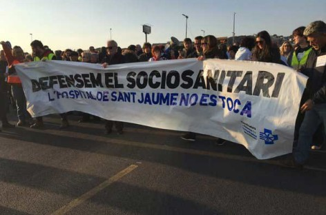 500 euros de multa contra la Coordinadora de la Sanitat de Mataró por haberse manifestado en defensa del sociosanitario