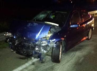 Cinco heridos en un choque frontal entre dos coches a la entrada de Palafolls