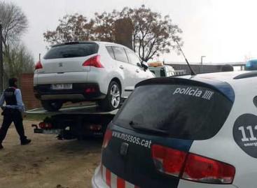 Aparece en Palafolls el coche que fue robado el sábado en Malgrat de Mar