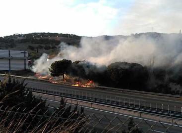 Un incendio obligó a cortar la C-32 en Mataró