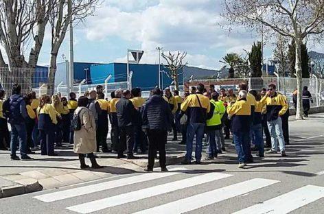 Manifestación en Procter&Gamble de Mataró para exigir garantías a los compradores de la planta