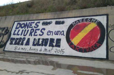 Boicoteados siete grandes murales independentistas en Arenys, Pineda y Sant Cebrià