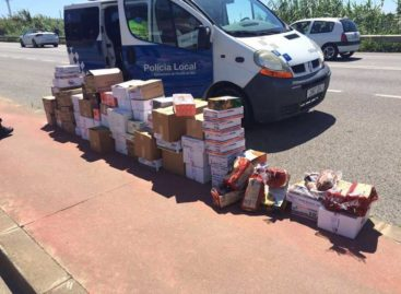 La policía de Pineda decomisa 340 kilos de alimentos sin garantía sanitaria