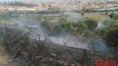 El video del incendio de la C-32 a la altura de Mataró