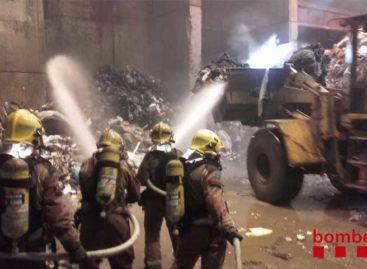 Incendio en la planta de basura de Mataró
