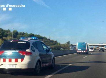 Un vecino de Mataró,  que conducía bebido, detenido tras provocar un accidente con tres heridos en Tiana