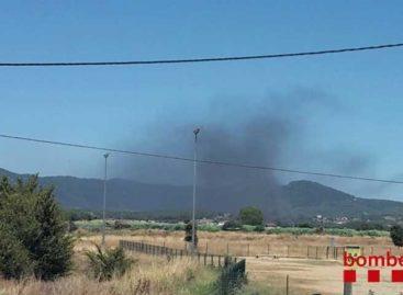 Un incendio en una empresa de Tordera activa 9 dotaciones de bomberos