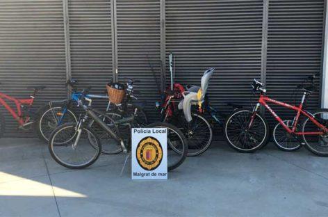 Detienen en Malgrat a un ladrón que acababa de robar siete bicicletas