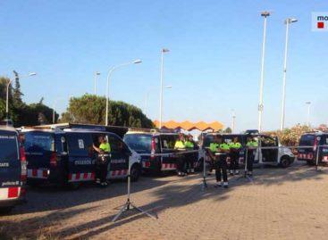 55 positivos en alcohol y drogas en un macrocontrol de los Mossos en Vilassar de Dalt