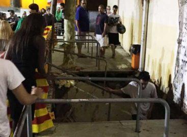 Varias personas heridas al derrumbarse una grada en Teià