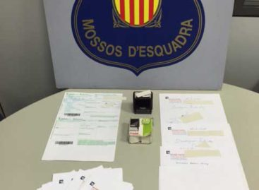 Detenidos un hombre y una mujer en Mataró por falsificar recetas médicas