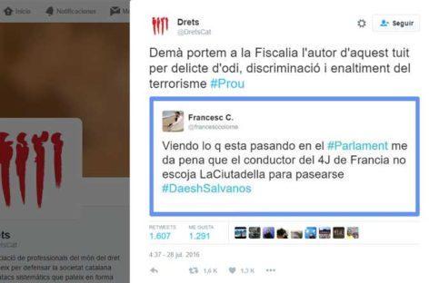 """Denuncian a la fiscalía por """"enaltecimiento del terrorismo"""" a un excandidato del PSC de Arenys de Mar"""