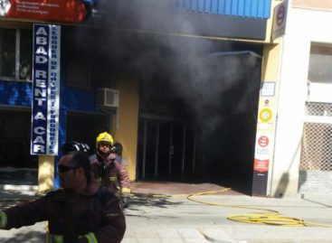 Incendio en un taller mecánico de Malgrat de Mar