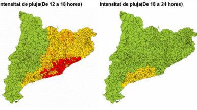 Protección Civil activa el plan Inuncat por previsión de lluvias intensas este jueves
