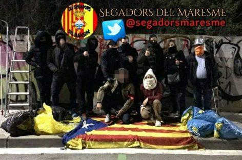Los Segadors del Maresme explican porqué retiran esteladas y lazos amarillos de las poblaciones de la comarca