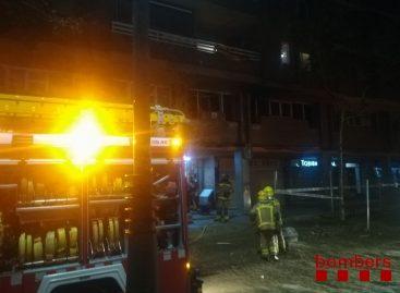 Incendio en un piso de la Gran Via de Lluis Companys de Premià de Mar