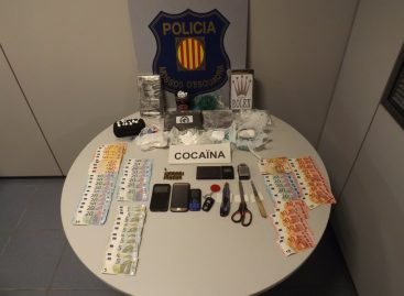 Detenido un matrimonio de Arenys de Mar con 4,5 kilos de cocaína después de denunciar que les habían querido robar