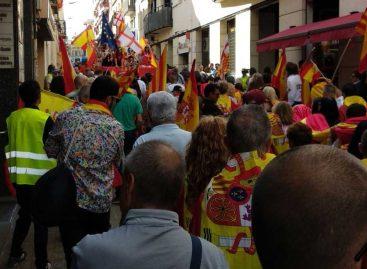 Unas 1.500 personas se manifiestan en Mataró por la unidad de España