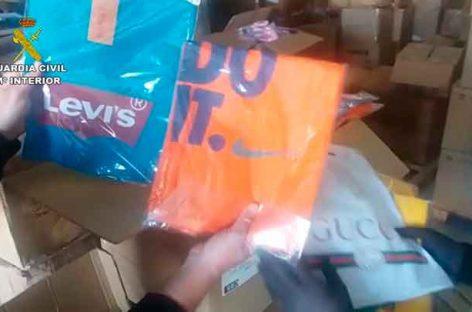 La Guardia Civil localiza 20.000 prendas falsificadas en un almacén de Pineda de Mar