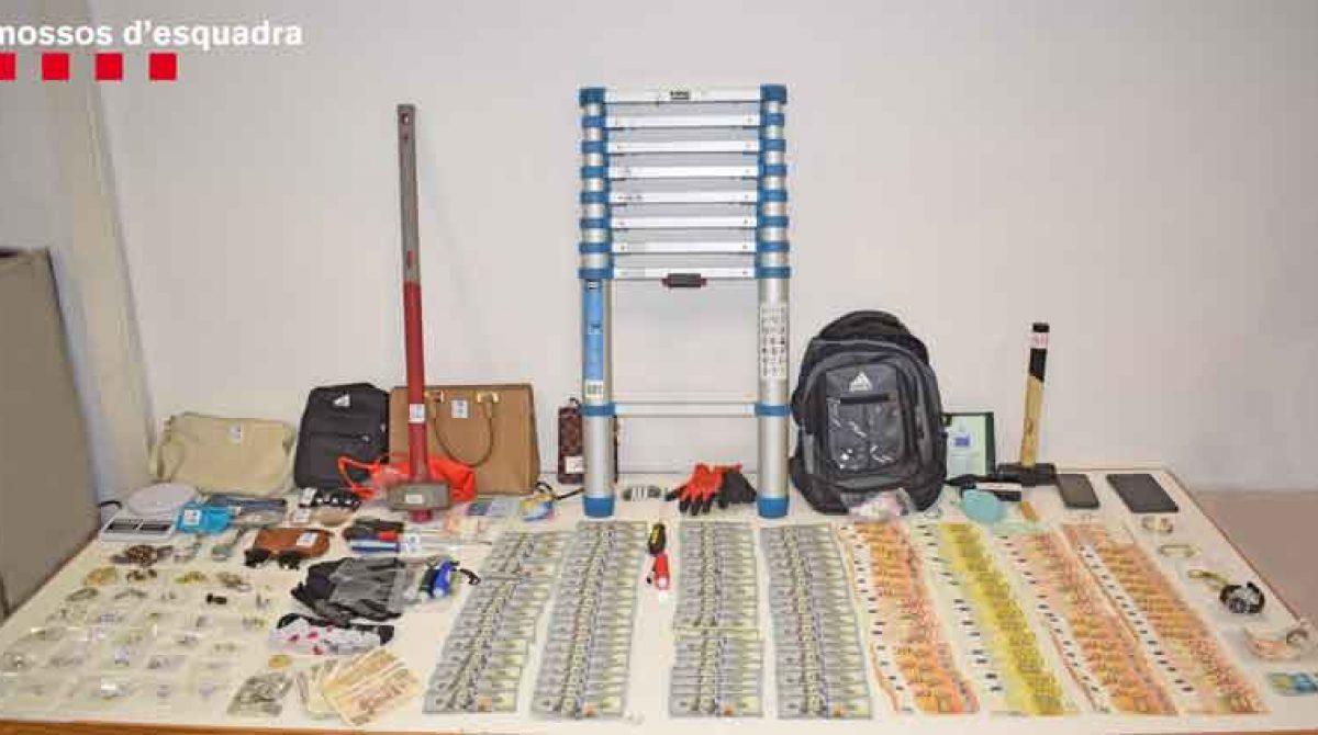 Dos detenidos en Malgrat de Mar por ocho robos en diferentes puntos de Cataluña